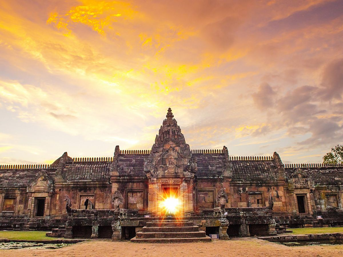 Phanom Rung Historical Park during sunset