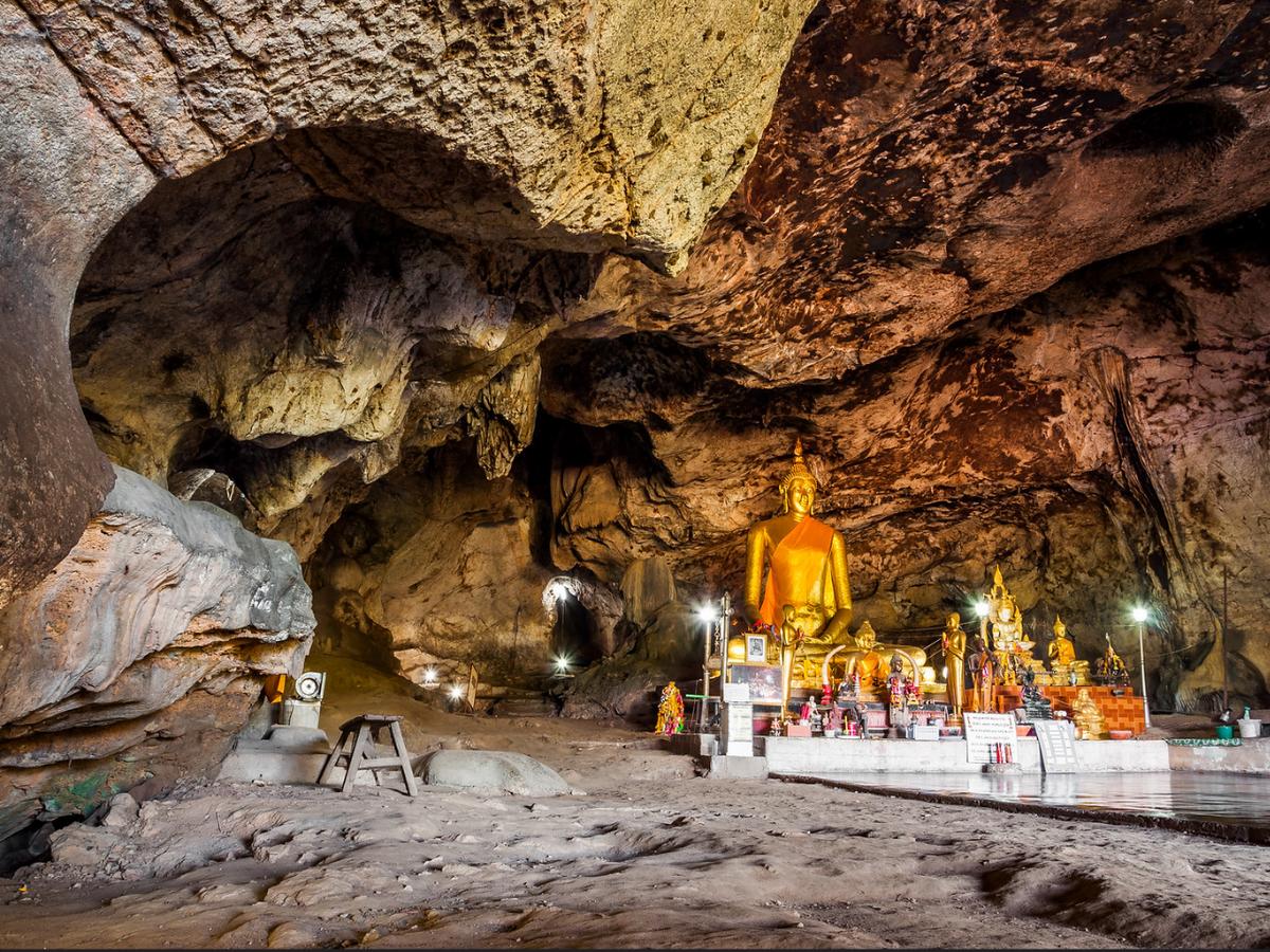 krasae cave kanchanaburi thailand