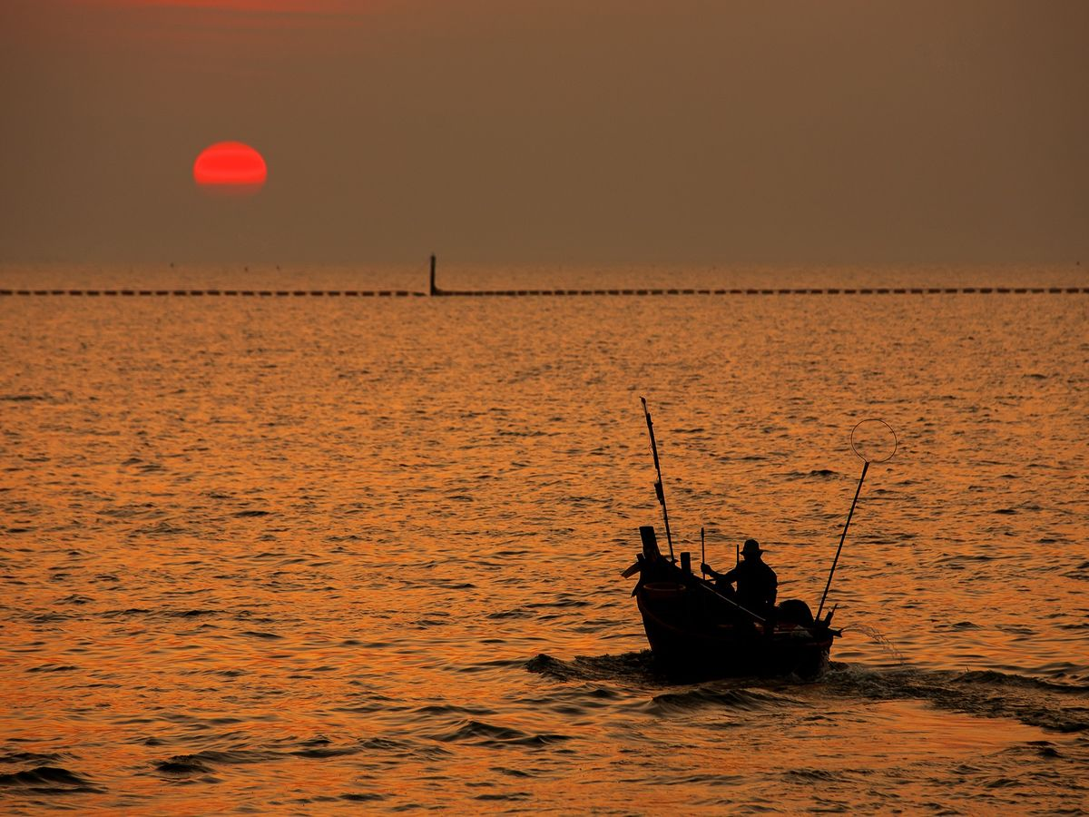 Sunset in Bang Saen, Chon Buri, Thailand