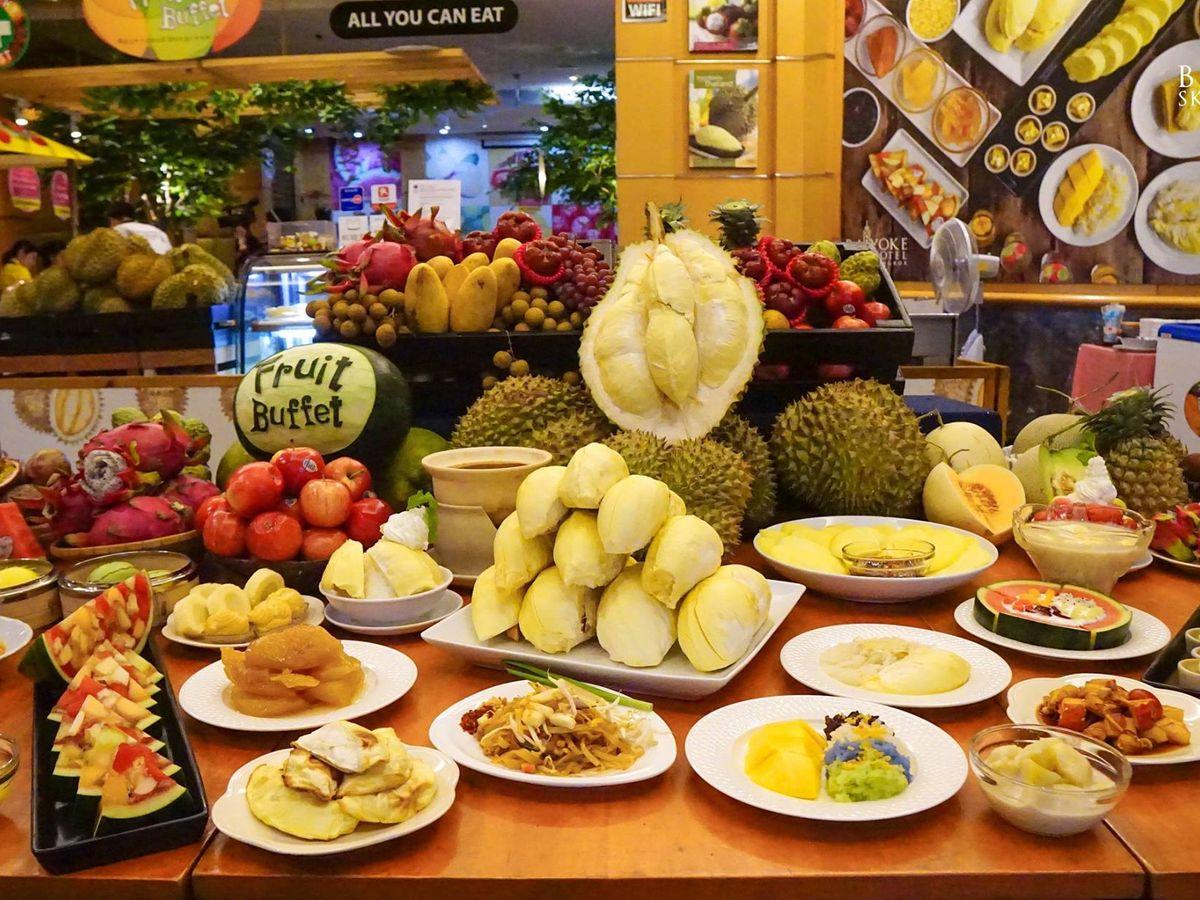 special offer fruit buffet at baiyoke sky hotel 18th floor takemetour rh takemetour com