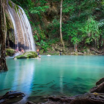Let's swim at Erawan waterfall