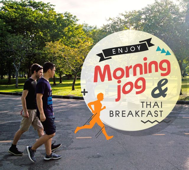 Fun Private Morning Jog at Lumphini Park & Authentic Thai Breakfast