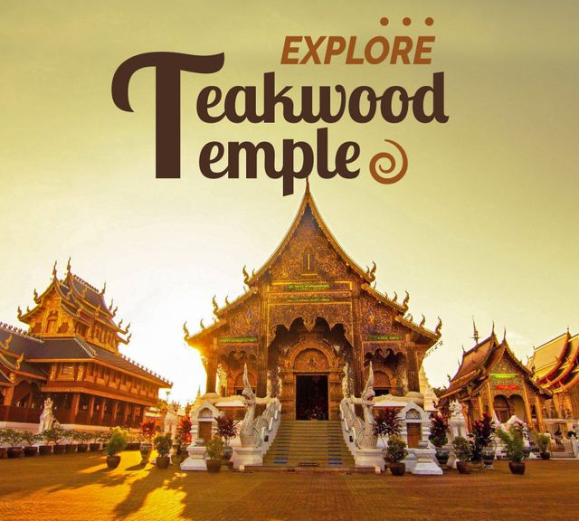 Chiang Mai Tour: Teakwood Temple, Sticky Waterfall & Mae Ngat Dam