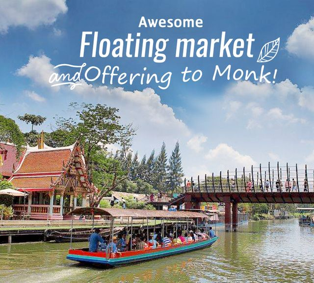 Go Merit Making with a Local at Kwan-Riam Floating Market