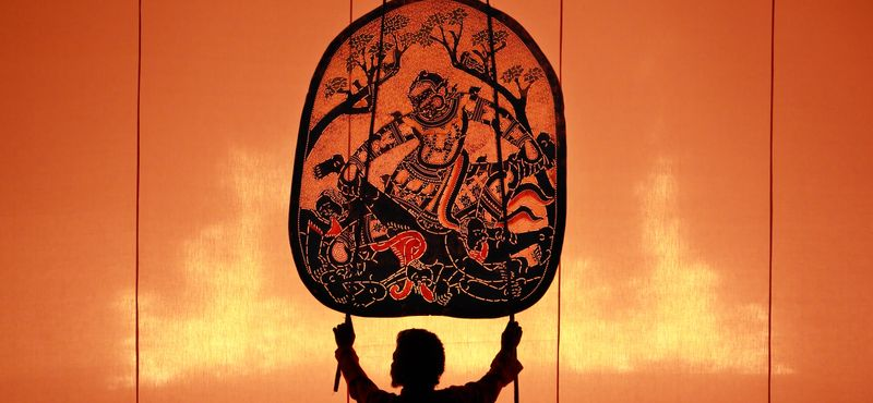 Thai shadow play, part of one of the best shows in Bangkok