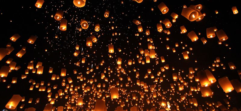 Public Holidays and Festivals in Thailand: Yi Peng Festival or Lantern Festival, the highlight of Chiang Mai's Loy Krathong Festival